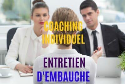 coaching individuel entretien d'embauche