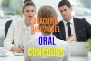 Coaching Individuel: ORAL CONCOURS