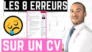 8 erreurs sur un CV