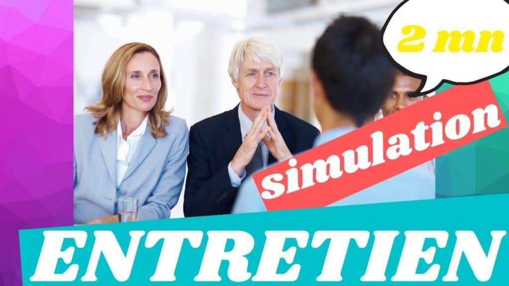 simulation de présentation en entretien d'embauche