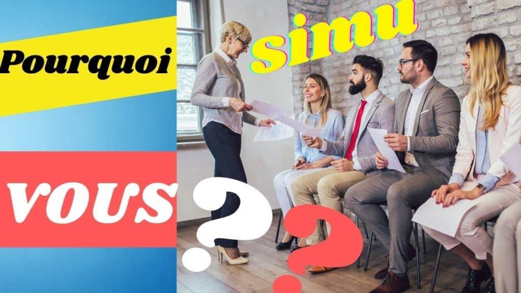 Simulation entretien alternance: pourquoi vous?